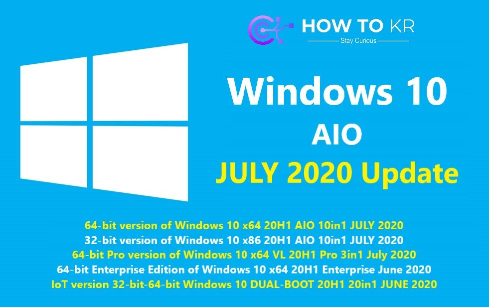 Download Windows 10 All in One 20H1 Update mới nhất 2020